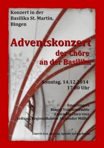 Adventskonzert in der Basilika St. Martin in Bingen, 14. Dezember 2014